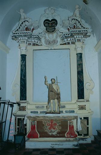 Autel, retable (autel secondaire de saint Jean-Baptiste)