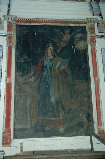 Tableau d'autel : Sainte Cécile