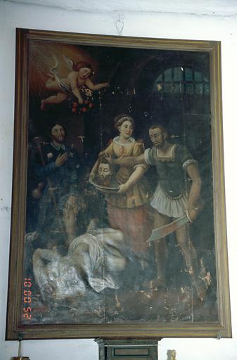 Tableau d'autel : Décollation de saint Jean-Baptiste