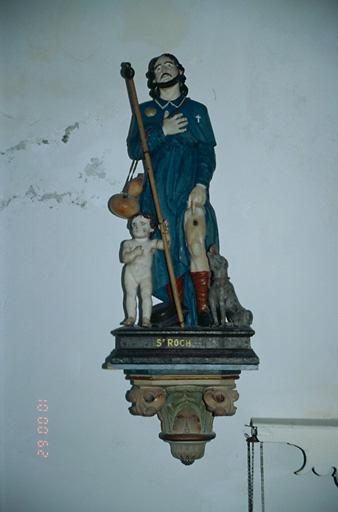 Statue (petite nature) : Saint Roch