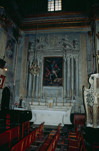 Ensemble de l'autel secondaire du Sacré-Coeur