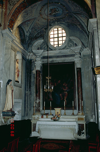 Ensemble de l'autel secondaire de saint Blaise et de Notre-Dame des Grâces