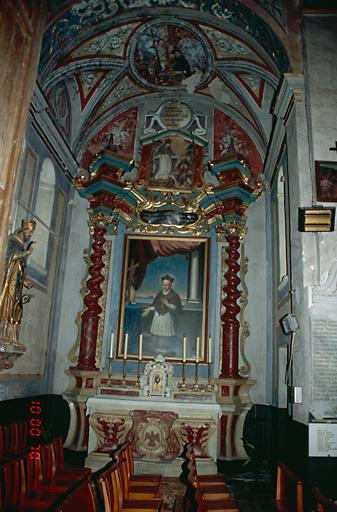 Ensemble de l'autel secondaire de saint Alexandre Sauli