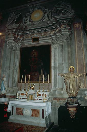 Ensemble de l'autel secondaire de la confrérie du Rosaire