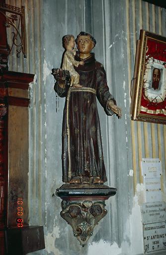 Statue (petite nature) : Saint Antoine de Padoue
