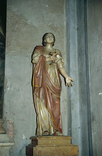 Statue (petite nature) : Sainte Lucie