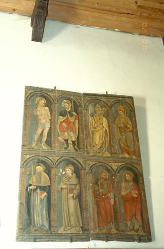 Retable : Saint Sébastien, saint Roch, saint Antoine abbé, saint Antoine de Padoue