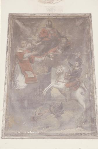Tableau : Assomption, saint Georges libérant la princesse de Trébizonde, saint Léonard, patron des prisonniers