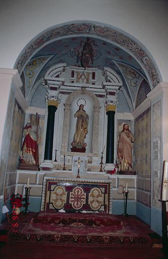 Ensemble de l'autel secondaire de l'Immaculée Conception