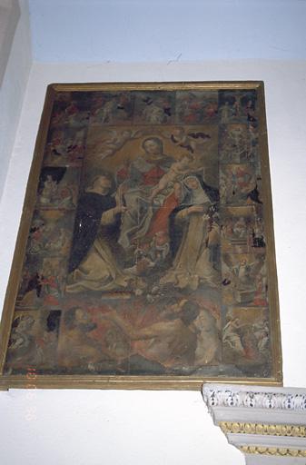 Tableau : Intercession de la Vierge du Rosaire en faveur des Ames du Purgatoire
