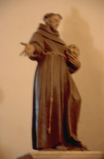 Statue (petite nature, en pendant) : Saint François d'Assise