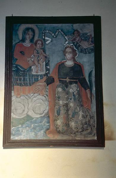 Tableau : Vierge à l'Enfant et sainte Réparate