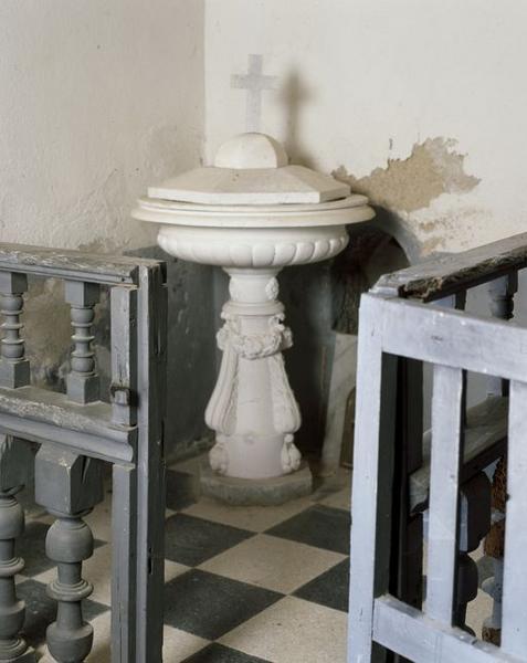 Fonts baptismaux, clôture des fonts baptismaux