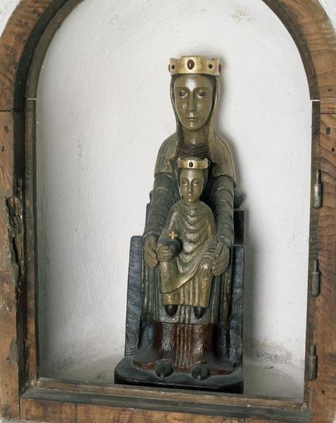 Statuette : Vierge à l'Enfant, Vierge en Majesté