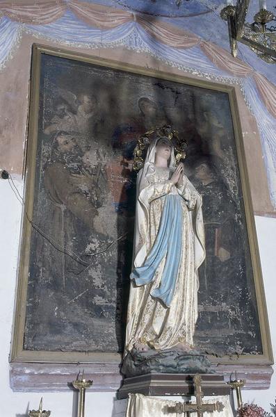 Tableau d'autel : Intercession de la Vierge en faveur des Ames du Purgatoire