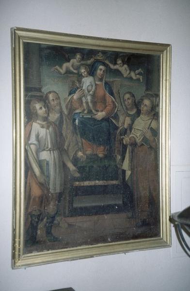 tableau : Le Couronnement de la Vierge avec saint Pancrace, saint Nazaire, saint Celse et saint Albert