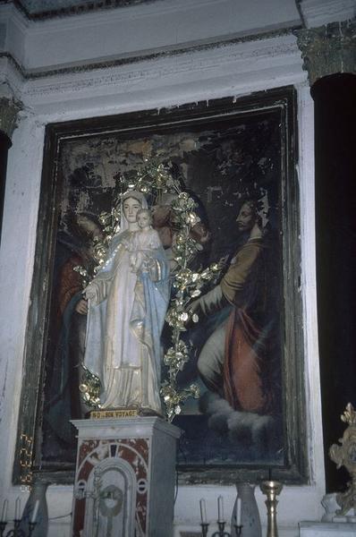 Tableau d'autel : Vierge à l'Enfant entre saint Erasme et saint Jacques