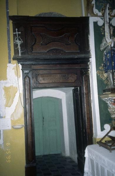 porte de séparation du choeur et de la sacristie