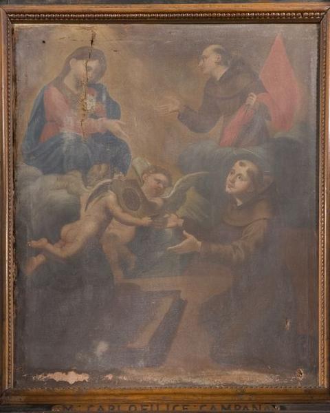 tableau : Saint Antoine aux pieds de la Vierge