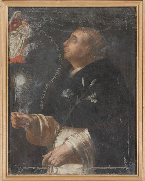 tableau : Apparition de la Vierge à l'Enfant à saint Hyacinthe