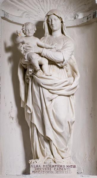 statue (petite nature) : Vierge à l'Enfant dite Notre-Dame du Bon Secours