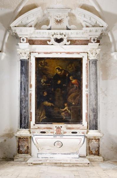 Ensemble de l'autel secondaire de saint Dominique