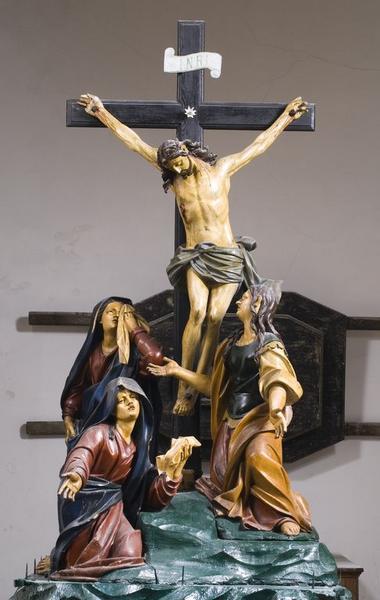 Groupe sculpté de procession : Calvaire dit des Trois Marie ou des Saintes Femmes