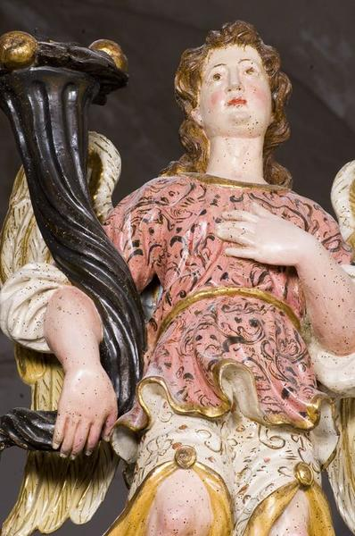 Ensemble de deux statues (paire, en pendant) : Ange