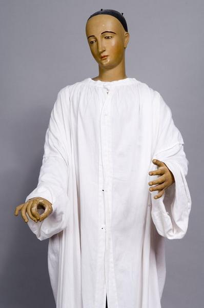 ensemble de deux statues de procession (statues-mannequins) : Vierge de douleur, sainte Marthe