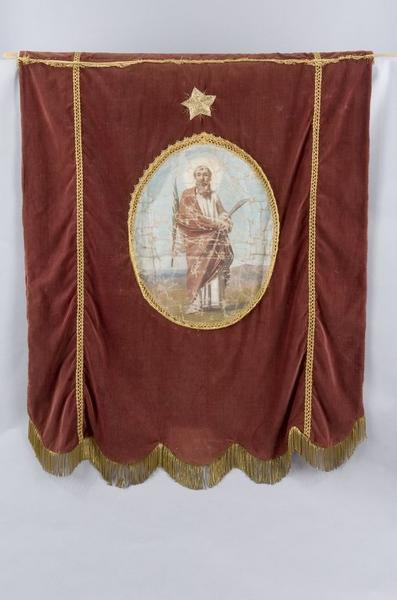 Bannière de procession de la confrérie de pénitents saint Barthélémy