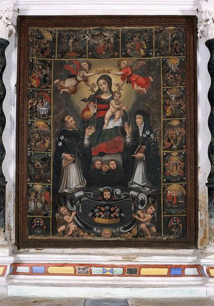 tableau d'autel : Donation du Rosaire