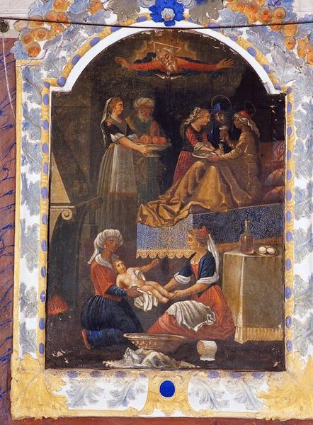Tableau d'autel : Naissance de saint Jean-Baptiste