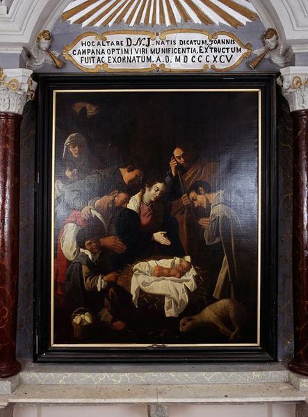 Tableau d'autel : Adoration des bergers