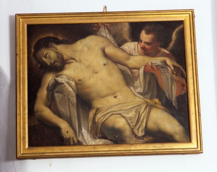 Tableau : Christ mort soutenu par un ange