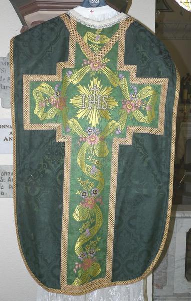 Chasuble, étole, voile de calice (ornement vert No 2)