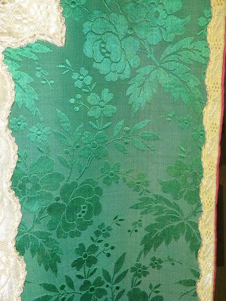 chasuble, étole, voile de calice (ornement vert No 3)
