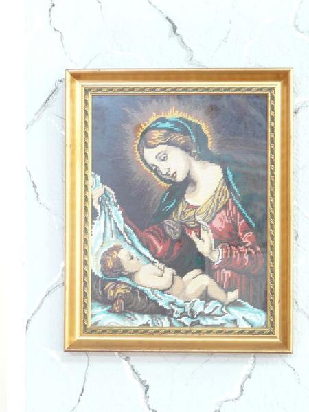 tableau de broderie : Nativité