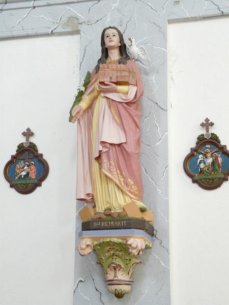 statue (petite nature) : Sainte Réparate