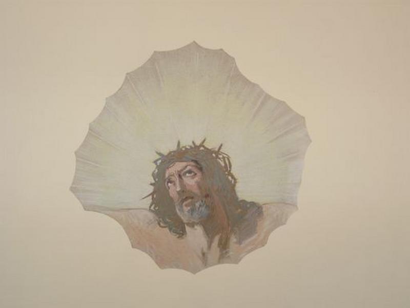 Peintures monumentales : Christ souffrant
