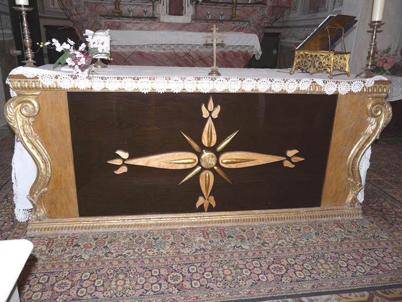 Ancien devant d'autel, actuellement autel