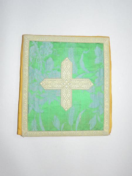 bourse de corporal, voile de calice (ornement vert) No 8