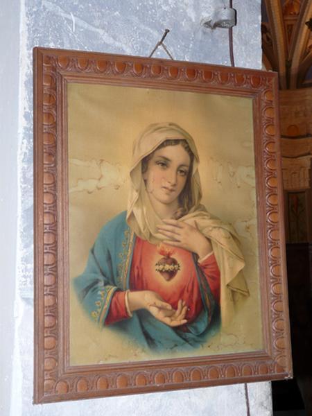estampe : Sacré-Coeur de Marie