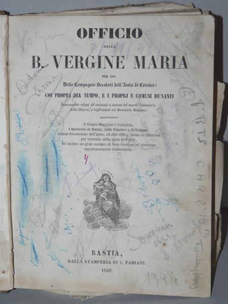 Livre : Office de la Bienheureuse Vierge Marie (No 1)