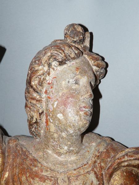 ensemble de deux statues (petite nature) : Anges céroféraires