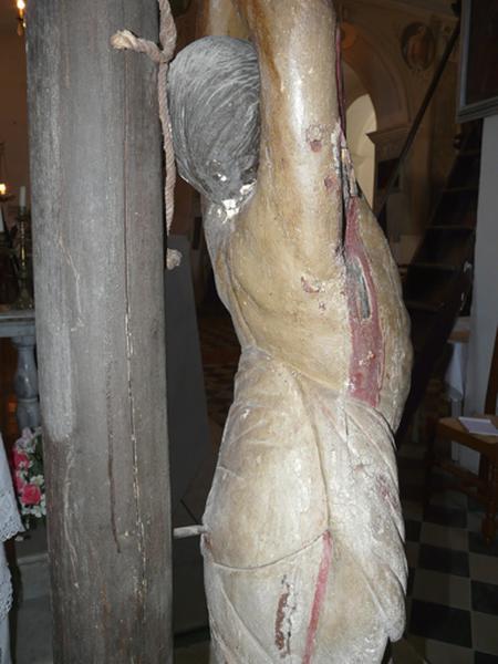 statue de procession (petite nature) : Martyre de saint Barthélémy