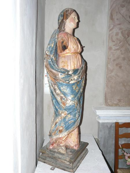 statue (petite nature) : Vierge à l'Enfant dite Notre-Dame du Rosaire