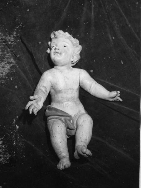 Statue (petite nature) : Saint Antoine de Padoue et l'Enfant Jésus