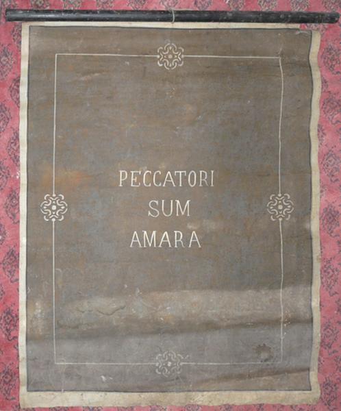 Bannière de procession de confrérie de pénitents
