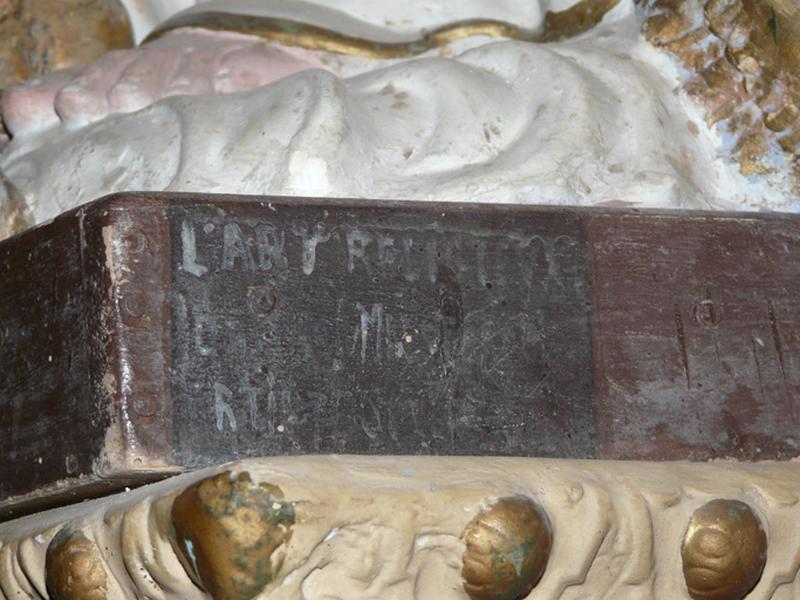 ensemble de quatre statues (petite nature) : Immaculée Conception (2), sainte Lucie et saint Maur