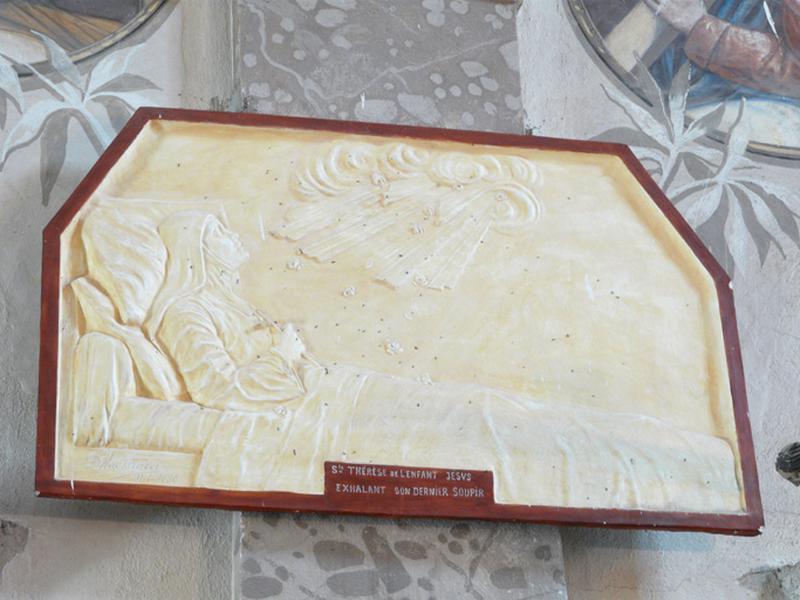 Bas-relief : Sainte Thérèse de l'Enfant Jésus exhalant son dernier soupir